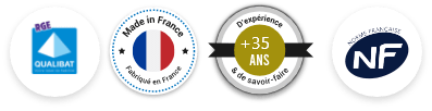 Labels certifiants la compétence, le savoir-faire et le professionnalisme de la Menuiserie Miroiterie Garrido